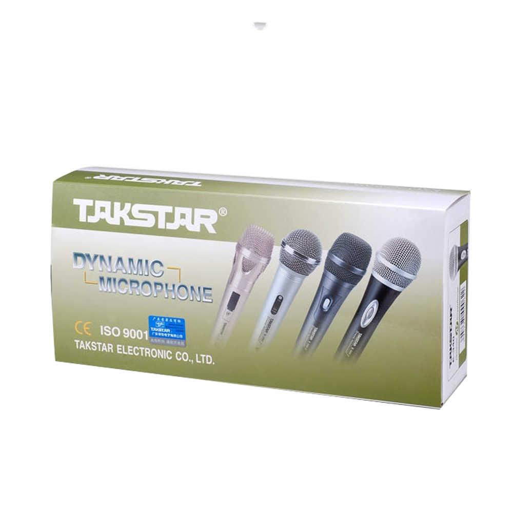 Оригинал TAKSTAR E-340 6,35 штекер кабеля 4 м караоке микрофон прибора динамический динамик KTV микрофоны для бытовых и этап