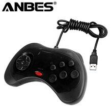 Новинка 2017 года проводной anbes геймпад USB Классический игровой контроллер геймпад для ПК для Sega для Saturn Системы Стиль для ПК горячая s