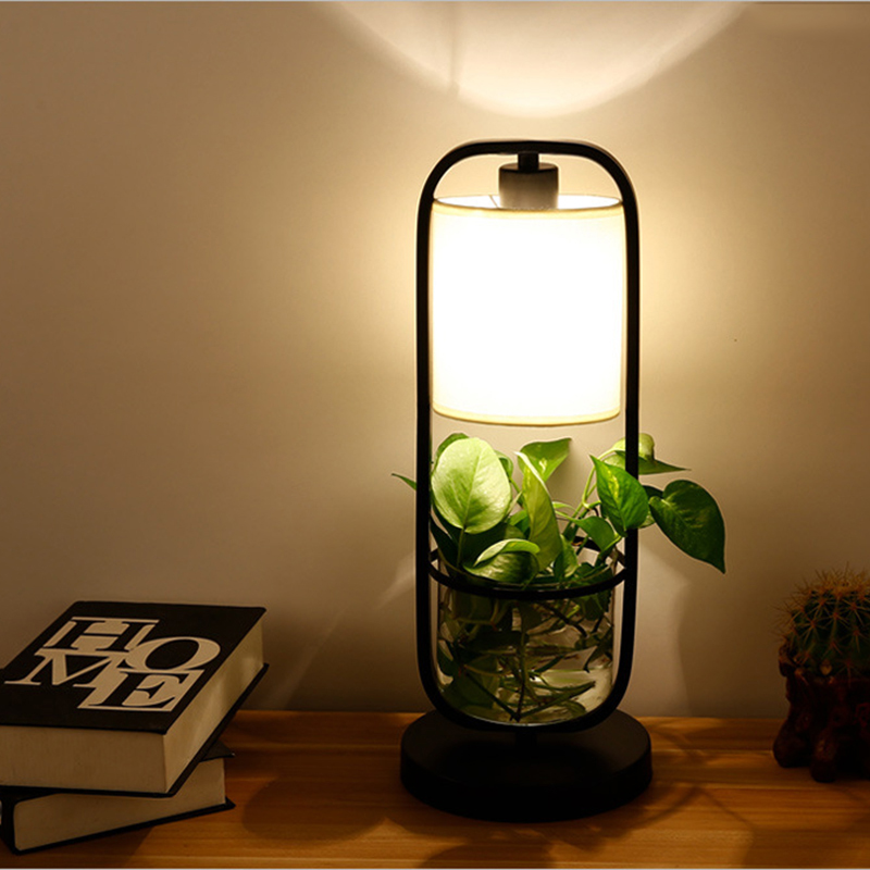 American creative plant table lamps E27 glass potted desk lights for living room bedroom bedside study office restaurant cafe American creative plant table lamps E27 glass potted desk lights for living room bedroom bedside study office restaurant cafe