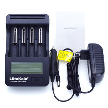 цена на Liitokala lii-400 LCD 18650 26650 18350 16340 10440 14500 18500 3.7V lithium battery NiMH 1.2V AA / AAA battery charger