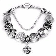 Новая мода натуральный ювелирный камень муранского стекла Подвески Браслеты и браслеты бабочки бисер Подходит P браслет для женщин