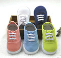 Baby First Walkers Rubber Sole Solid Canvas Sneakers 1-3 T Children Kid's Boy Girl Candy Shoes