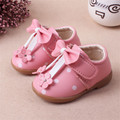New Arrival Bowknot Princess Female Baby Leather Shoes For Girls Baby
