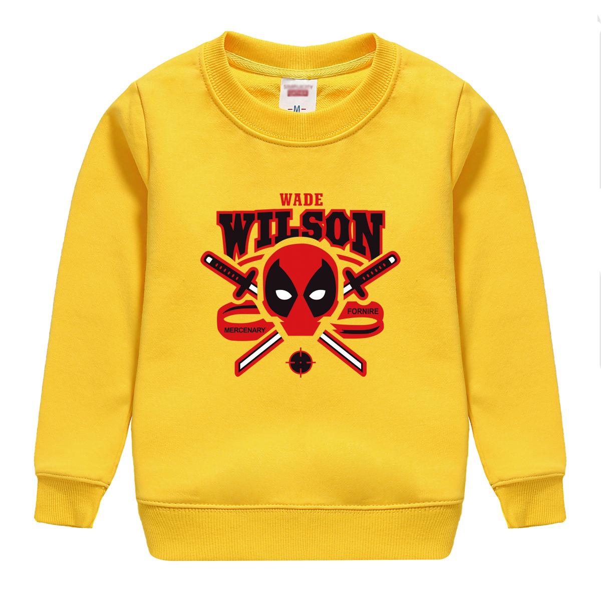 wade wilson pattern 2018 popular sale spring autumn cotton sweatshirt baby boy hoodie sweater top soft outwear high quality tees