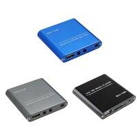 1080P Mini HD Media Player AV USB SD MMC Multimedia Advertising MKV Car External Video Player UK plug