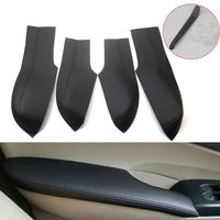 4pcs Fit For Honda Civic 8th 2006 2011 Door Armrest Black PU Leather Surface Shell Trim Cover Decorative Car styling Accessories