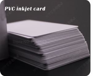 Image 3 - 100 glossy White Blank inkjet printable PVC Card Waterproof plastic ID Card business card no chip for Epson for Canon printer