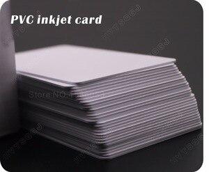 Image 3 - 100光沢ホワイトブランクインクジェット印刷可能なpvcカード防水プラスチックidカード名刺いいえチップエプソン用キヤノンプリンタ