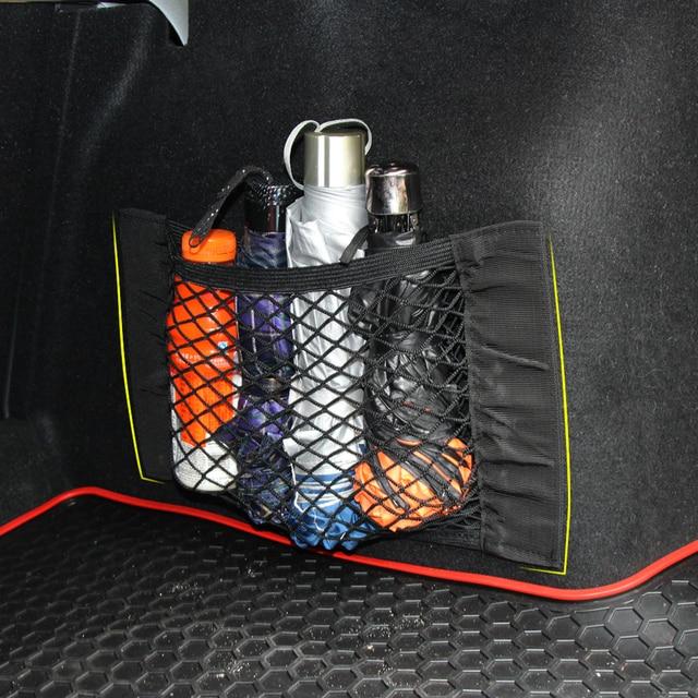 Стайлинга автомобилей, багажнике Cargo Net волшебный Стикеры Чемодан сетки Oganizer сумка для Audi A1 A3 A4 A5 A6 A7 A8 Q2 q3 Q5 Q7 R8 S4 S5 TT