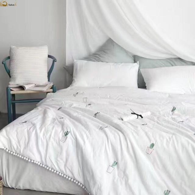 Venta caliente 100% algodón lavable de algodón blanco color cactus ...