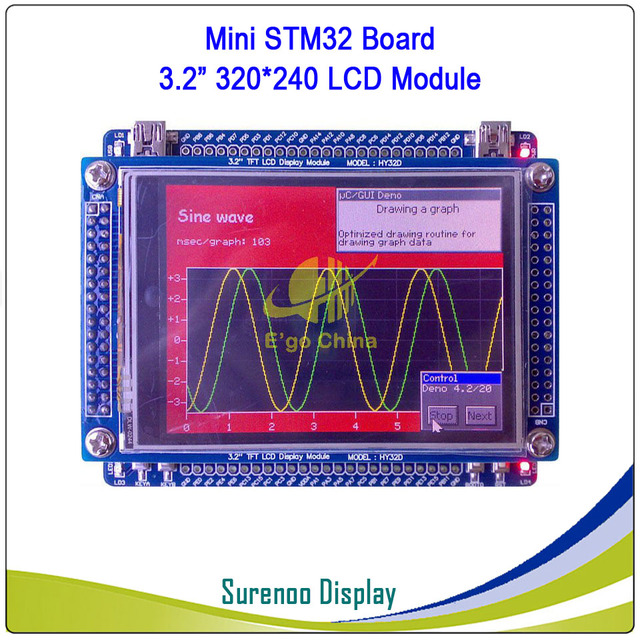 "STM32 STM32F103VCT6 HY32D HY-MiniSTM32V Development Board & 3.2"" ILI9325 TFT Touch LCD Module Display Screen Panel"
