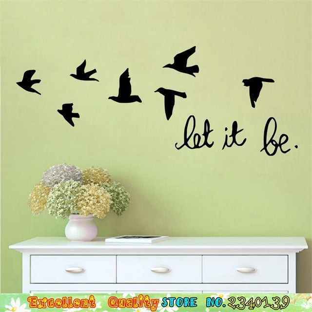 Old Fashioned Flying Birds Wall Art Pattern - Wall Art and Decor ...