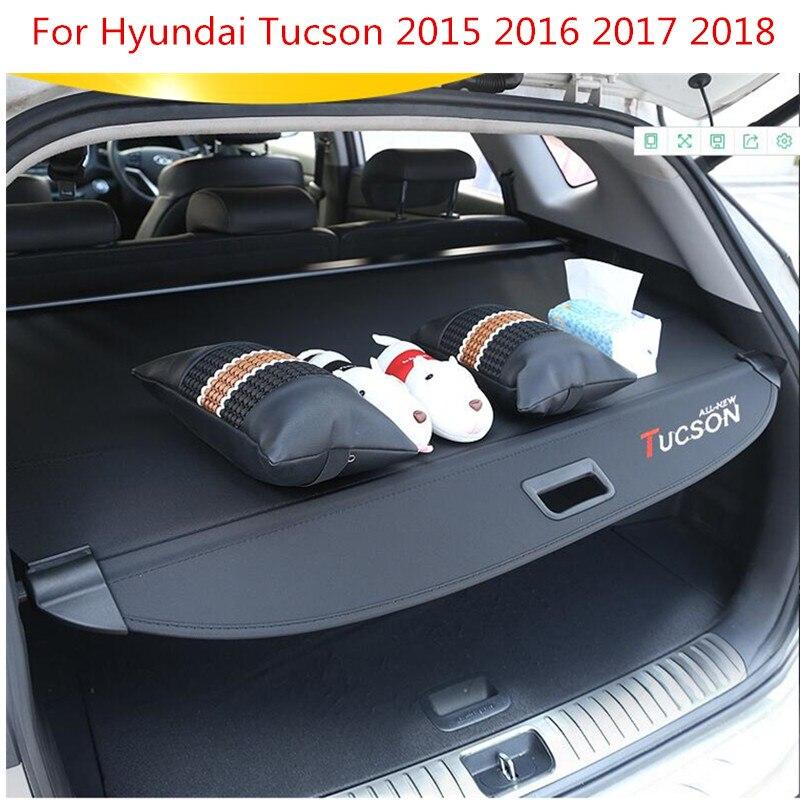Achter Pakket Plank Kofferbak Cover Materiaal Gordijn Achter Gordijn Intrekbare Spacer Achter Rekken Voor Hyundai Tucson 2015 2016 2017 2018