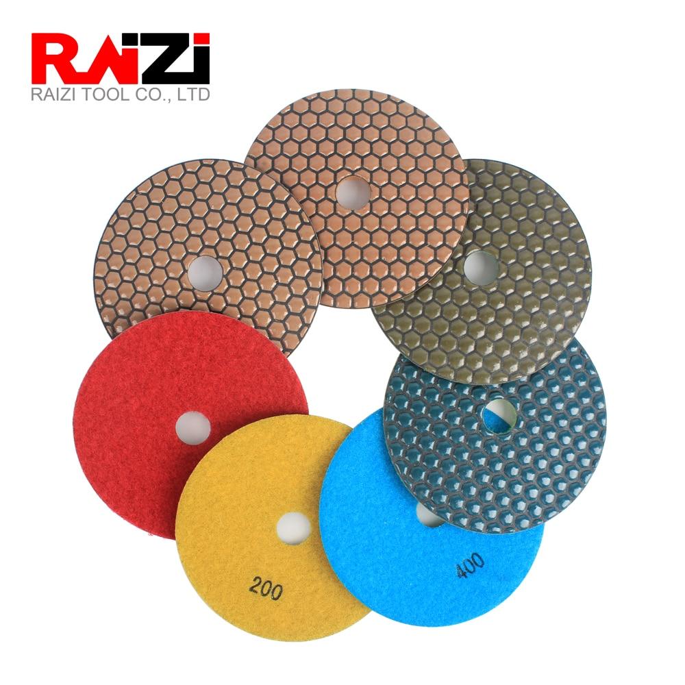 4/'/' Diamond Polishing Pad Sanding Pad Wet Grit 50-3000 for Concrete Ceramic Tile