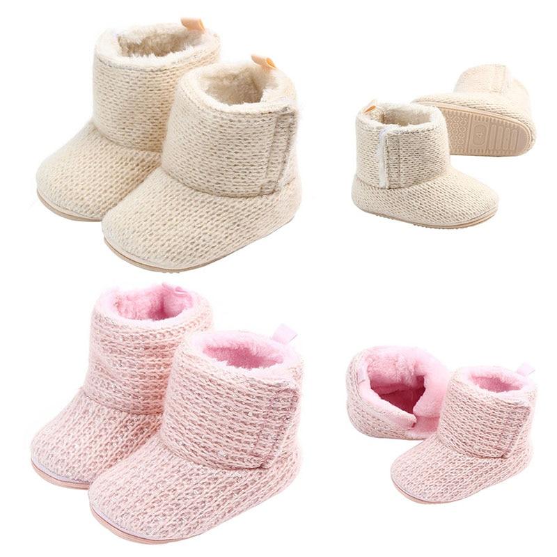 100% Wahr Winter Baby Stiefel Neugeborene Baby Mädchen Schuhe 0-12 Mt Warme Plus Samt Schnee Booties Für Mädchen Weichen Boden Slip Mädchen Stiefel