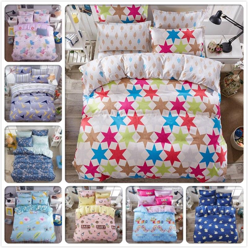 Colourful Star Aole Cotton Bed Linen 3/4 pcs Bedding Sets Kids Girl Boy Bedlinens Single Double Twin Queen King Size Duvet Cover