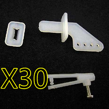 30PCS RC spare parts Rudder Servo Rob Angle Set For RC FPV Airplane Helicopter With 1mm Chuck Screw