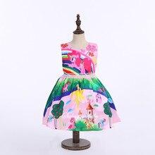 Little pony dress 2016 summer girls clothing my pony sleeveless girl dress roupas infantis menina ropa ninas vestido infantil