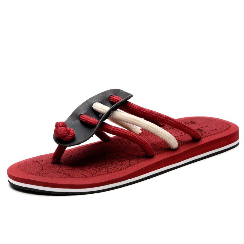 Nyári új flip flops férfi papucs dagály húzza Európában és az - Férfi cipők
