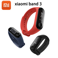 2018 New Original Xiaomi Mi Band 3 Smart Bracelet Black ,0.78 inch OLED Instant Message Caller ID Weather Forecate