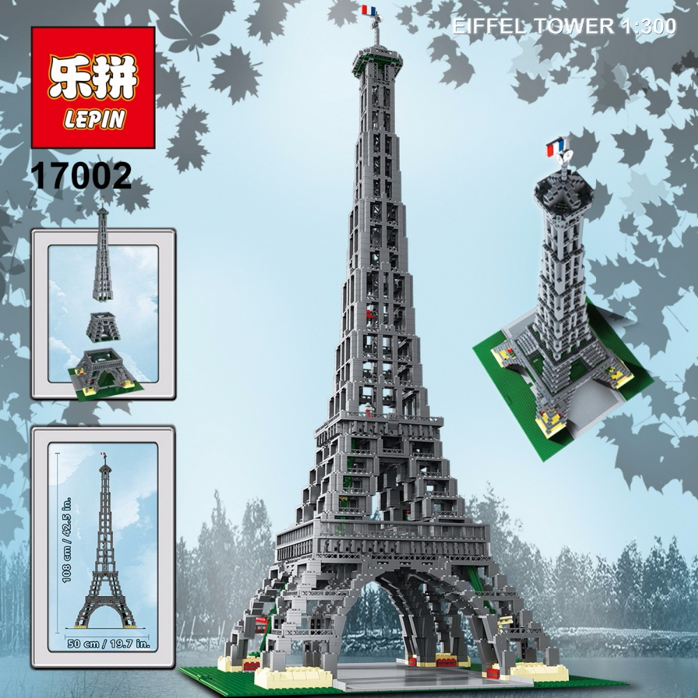 LEPIN 17002 3478pcs The Eiffel Tower Model Building Kits Brick Toys Christmas Gift Compatible legoed 10181 lepin 22001 pirate ship imperial warships model building block briks toys gift 1717pcs compatible legoed 10210
