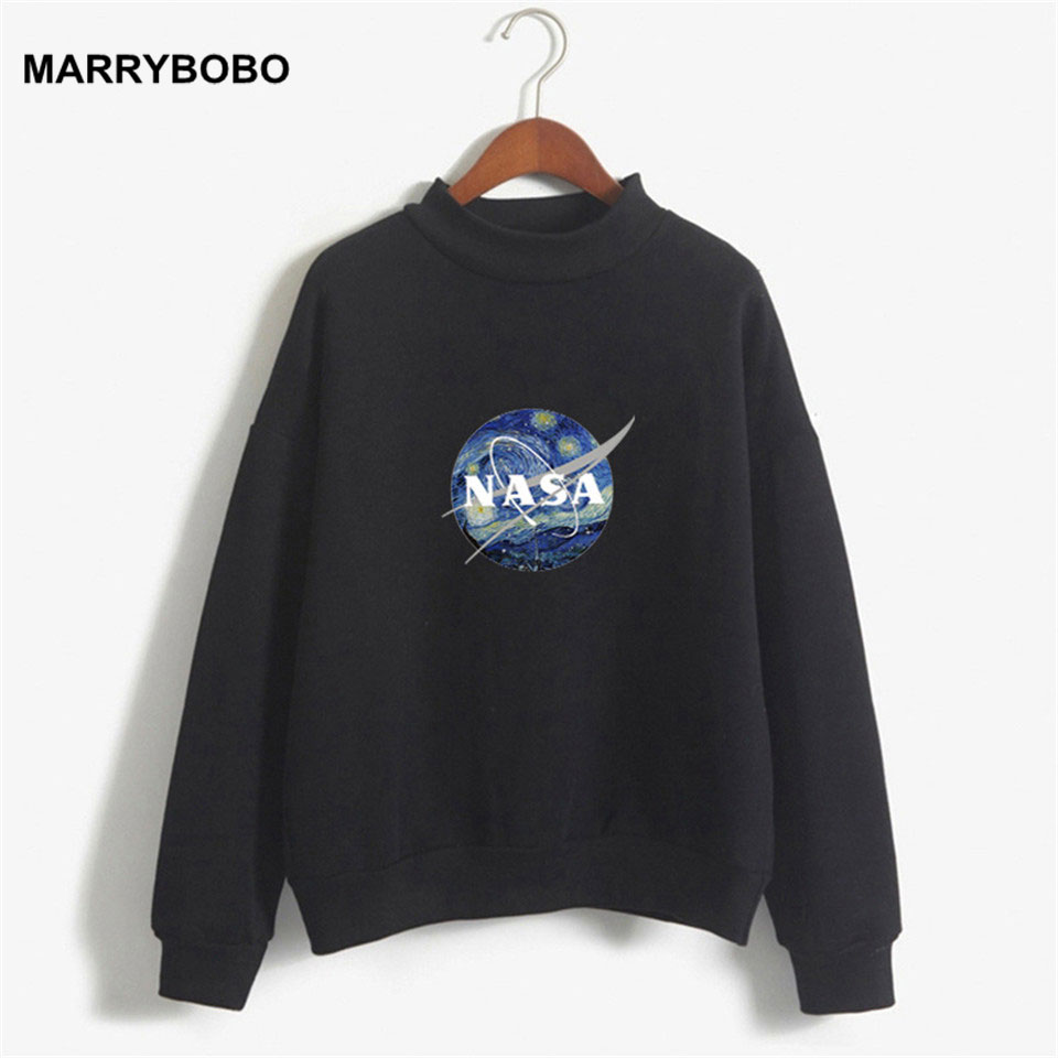 2019 Autumn Winter Women Kpop Hoodies Sweatshirt Female Harajuku Kawaii Turtleneck Sweatshirt Women Long Sleeve Fleece Pullovers