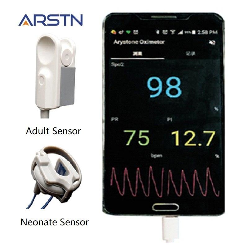 2 sensor Handheld Pulsoximeter hause Oximetro Pulsioximetro finger Herz Rate Monitor für Android handy mit OTG funktion CE-in Blood Pressure aus Haar & Kosmetik bei  Gruppe 1