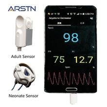 2 датчика ручной пульсоксиметр домашний Пульсоксиметр Пальчиковый Пульсоксиметр для телефона Android с функцией OTG