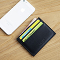 LAN 100% Leather  men's  credit card case slim bank card case credit Card Holder hot sale ID card holder fashion  travel case