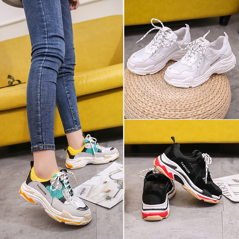 Women Fashion Sneakers 2018 Hot sale Triple S Runner Trainers Ladies