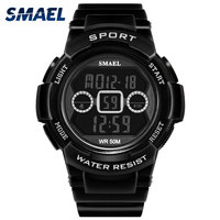 SMAEL Brand Children Watches For Boys 50M Waterproof Kids Watches For Girls Quartz Military Digital Led