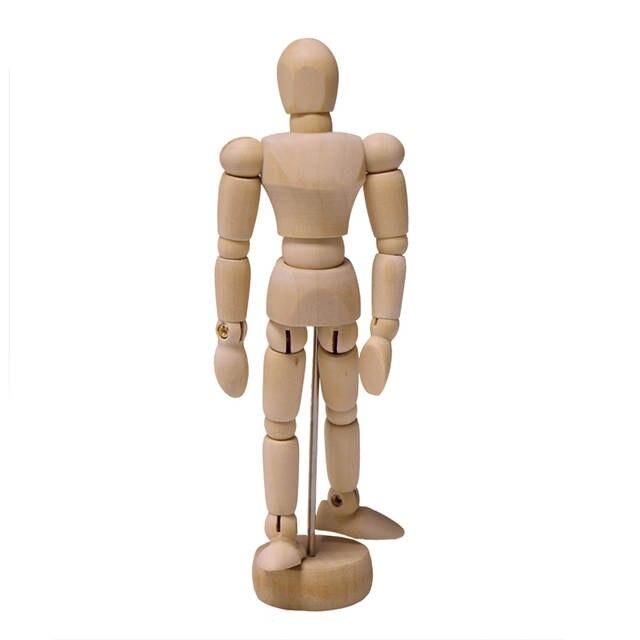 Wooden Manikin Mannequin Moveable Limbs Human Figure Art Drawing Sculpting  Model Class Sketching Jointed Human Puppet D14