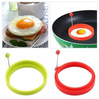5 pcs Silicone Ring Omelette Fried Egg Shaper Eggs Mould for Cooking Breakfast Red