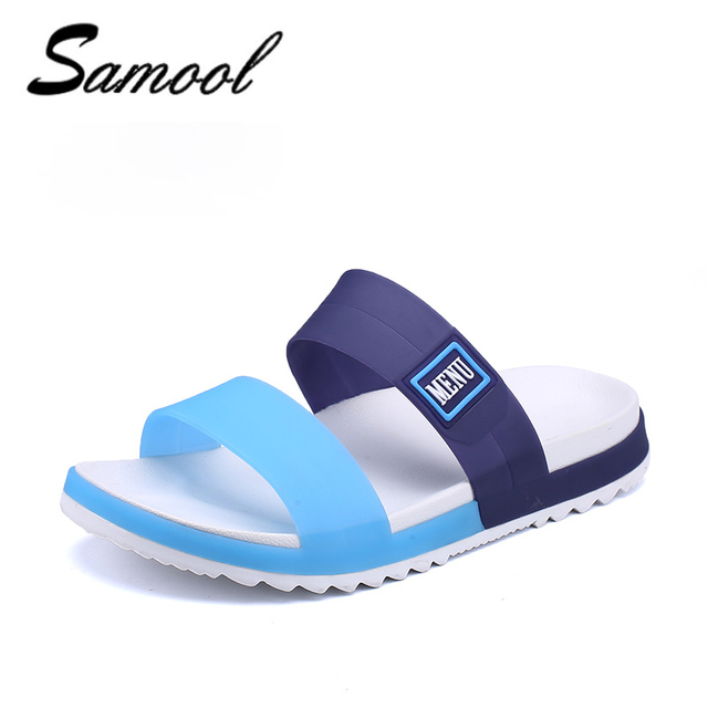9d067589a41e Slippers Men flip flops Mens Sandles jelly Beach Water Upstream Summer  Beach Flat Heel Shoes Men PVC EVA Shoes size40-45 1F2