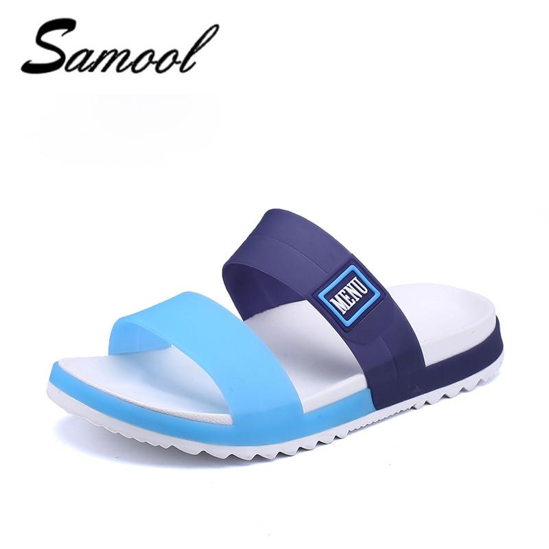 Slippers Men flip flops Mens Sandles jelly Beach Water Upstream Summer Beach Flat Heel Shoes Men PVC EVA Shoes size40-45 1F2
