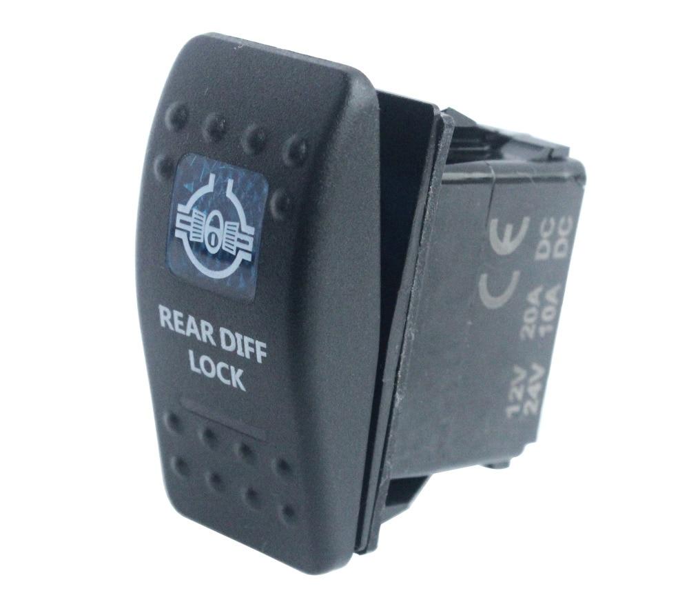 Bandc waterproof Car Boat Blue Led 5 pin spst on-off INTERIOR LIGHT Rocker Switch