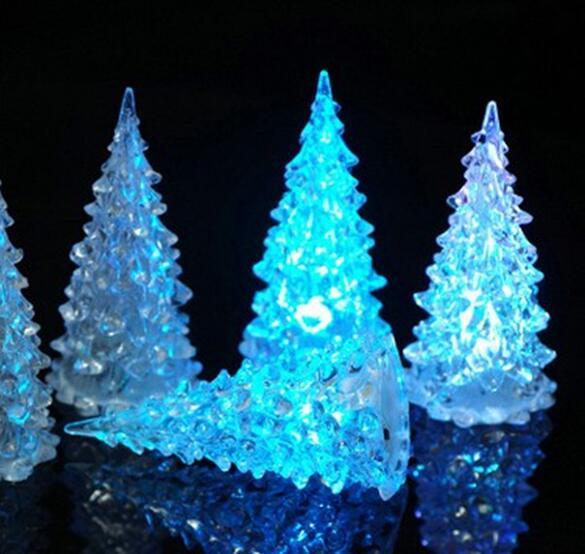 Acrílico Navidad árbol Navidad Luz Navidad Cristal Regalo Juguete
