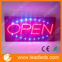 Free Shipping 19 X 9 45 Brand New LED Neon Light Animated Motion OPEN Business Sign