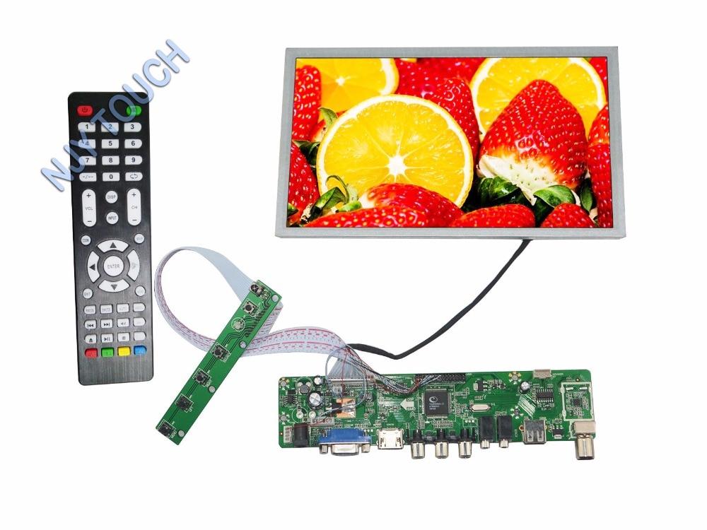 New HDMI USB AV VGA TV Remote LCD Controller Board Kit Plus N089L6-L03 LED Screen Display usb 2 0 analog tv usb stick w remote controller