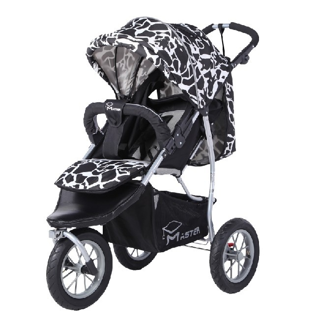 Babyfond high landscape three-wheeled baby stroller Shockproof luxury baby stroller with a foot cover new luxury baby stroller high landscape three dimensional four round baby stroller