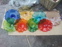 100 Handmade Murano Glass Wall Plate Sconce