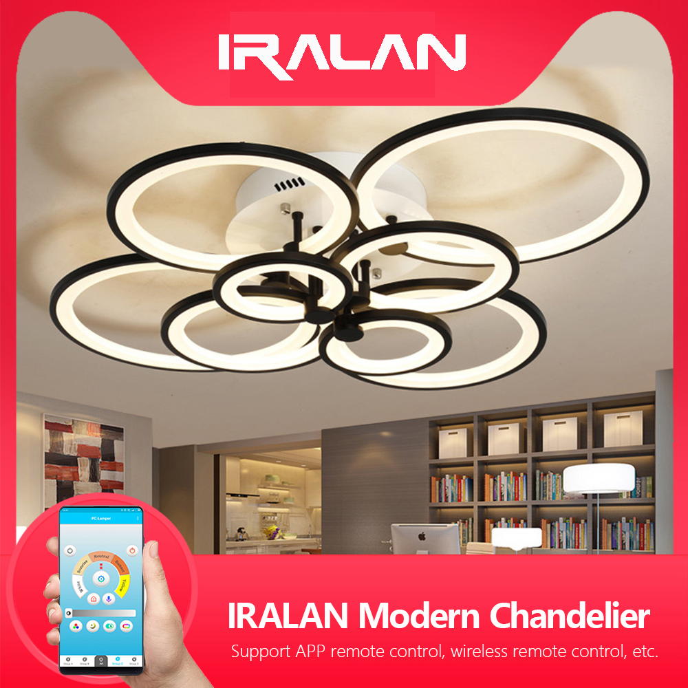 Modern LEDs ring Lamp ceiling chandelier for kitchen living room study room bedroom Dimmable Remote control