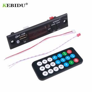 Image 3 - Kebidu samochodowy sprzęt Audio USB TF FM moduł radiowy bezprzewodowy Bluetooth 5V 12V MP3 płytka dekodera WMA odtwarzacz MP3 z pilotem do samochodu