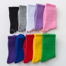 New solid color cotton socks personality Harajuku candy couple skateboard casual sports mens