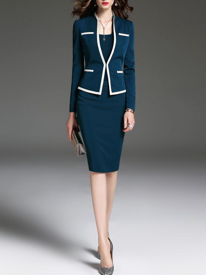 Mulheres bodycon vestido terno plus size 2