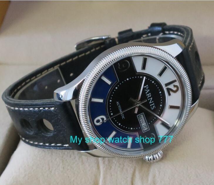 где купить 42mm Parnis Sapphire Crystal Japanese 21 jewels Automatic Self-Wind Movement Mechanical watches 5Bar Men's watch tlD18 по лучшей цене