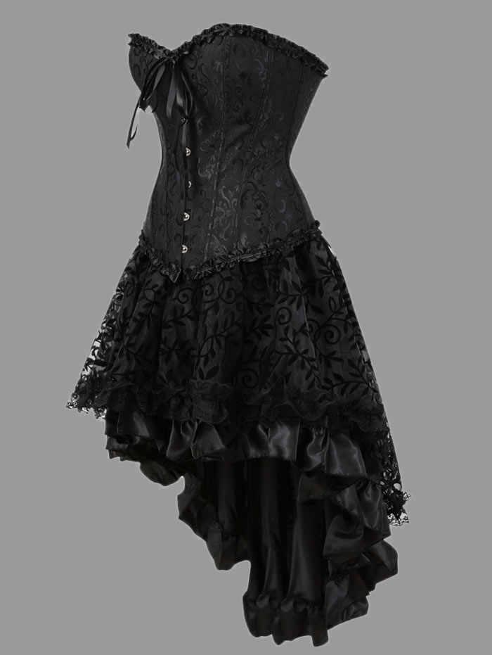 Wipalo, модные сексуальные корсеты, платья размера плюс, костюм овербюста, Бурлеск, корсет и юбка, комплект нижнего белья, пачка, корсет 6XL