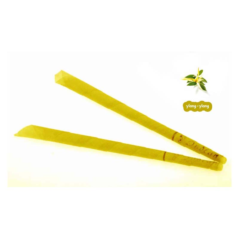102pcs/lot Aromatherapy ear candles,ylang ylange scent,indian trumpet ear wax candle ,with protective disc,with CE
