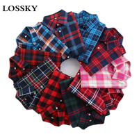 2016 Fashion Plaid Shirt Female College Style Women S Blouses Long Sleeve Flannel Shirt Plus Size