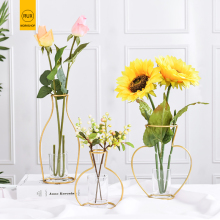 RUX WORKSHOP Nordic Style vase decoration home Golden Iron Art Wire Vases Dried Flower Ornaments Home Party Decoration